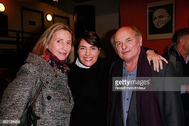 Claire Stevenin Alessandra Sublet and Jean Francois Stevenin attend the Laurent Gerra One Man Show at L'Olympia on December 19 2015 in Paris France