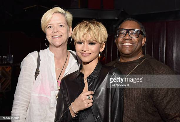 Claire Stoermer actress/singer Zendaya and Kazembe Ajamu Coleman attend the 2016 Essence Black Women in Music event at Avalon on February 11 2016 in...