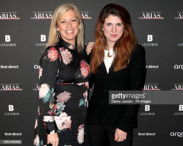 Claire Sturgess and Danielle Perry arriving at the The Audio and Radio Industry Awards at the First Direct Arena in Leeds