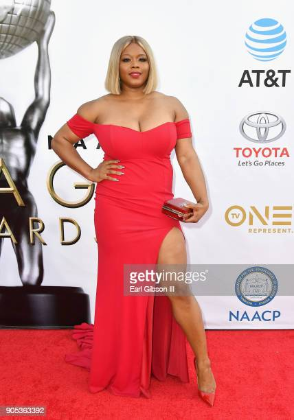 Claire Sulmers at the 49th NAACP Image Awards on January 15 2018 in Pasadena California