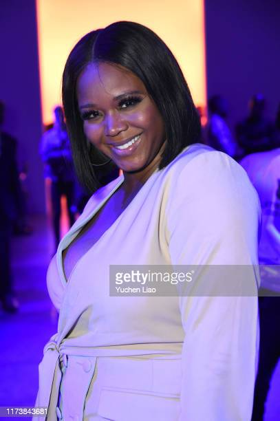 Claire Sulmers attends Aliette fashion show during New York Fashion Week The Shows at Gallery II at Spring Studios on September 11 2019 in New York...