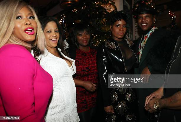Claire Sulmers Nina Flowers Bevy Smith Fantasia Barrino and Miss Lawrence attend the Chez Lucienne Of Harlem Grand ReOpening and Fantasia's Christmas...