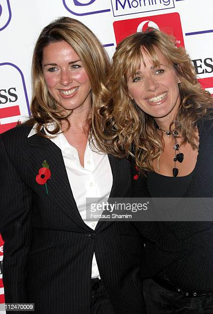 Claire Sweeney and Carol Smillie during Daily Express and Vodafone Lifesavers Awards 2004 at The Savoy Hotel in London Great Britain