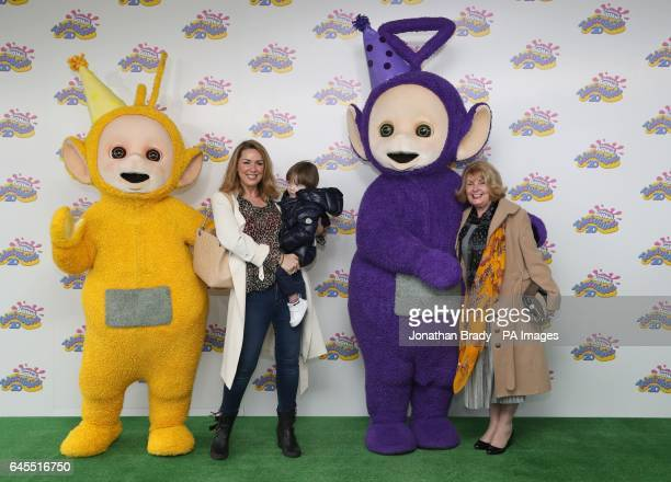 Claire Sweeney and family attending the Teletubbies 20th anniversary party at the BFI Southbank in London