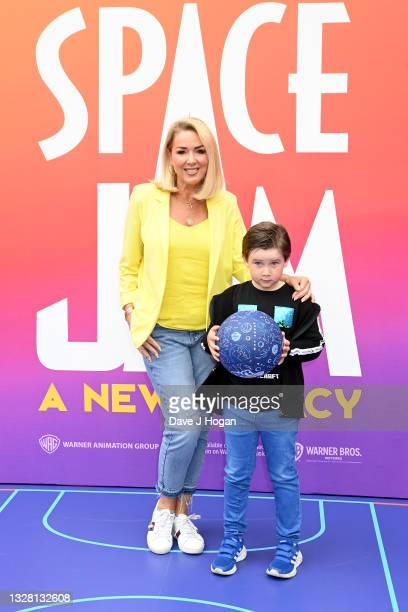 """Claire Sweeney and son Jackson attend a special screening of """"SPACE JAM: A NEW LEGACY"""" in cinemas 16th July at Cineworld Leicester Square on July 11,..."""
