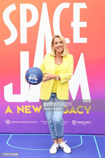 """Claire Sweeney attends a special screening of """"SPACE JAM: A NEW LEGACY"""" in cinemas 16th July at Cineworld Leicester Square on July 11, 2021 in..."""