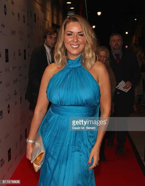 Claire Sweeney attends the 16th Annual WhatsOnStage Awards at The Prince of Wales Theatre on February 21 2016 in London England