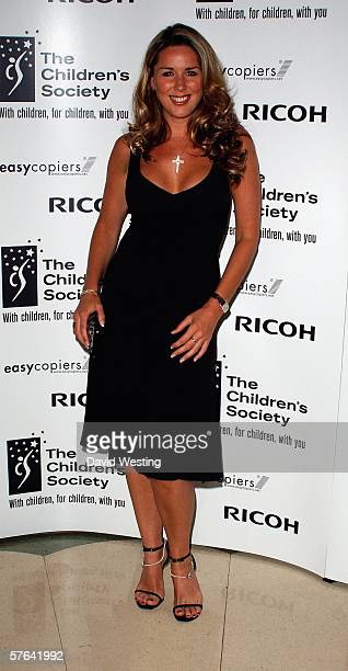 Claire Sweeney attends the Children's Society annual ball this year celebrating the society's 125th anniversary with a fairytale theme at Claridges...