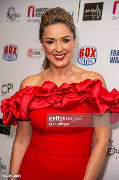 Claire Sweeney attends the Nordoff Robbins Championship Boxing Dinner at the London Hilton