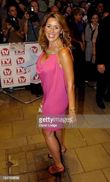 Claire Sweeney during 2005 TV Quick TV Choice Awards Arrivals at The Dorchester in London Great Britain