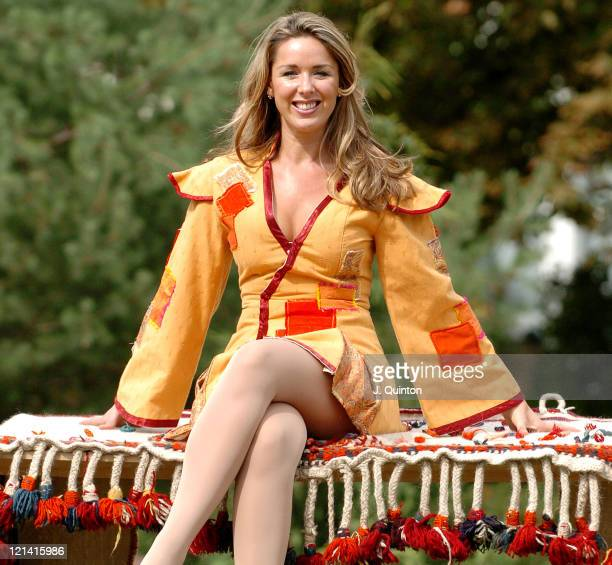 Claire Sweeney during 'Aladdin and his Magic Lamp' Photocall at New Wimbledon Theatre in London Great Britain