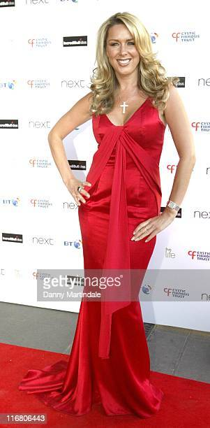 Claire Sweeney during Cystic Fibrosis Trust Breathing Life Awards Red Carpet Arrivals at Hilton London Metropole in London Great Britain