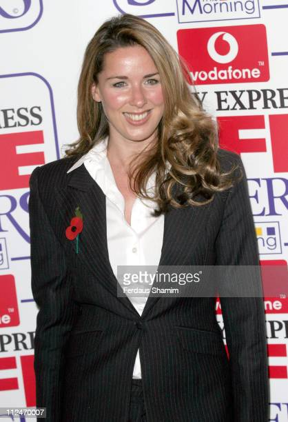Claire Sweeney during Daily Express and Vodafone Lifesavers Awards 2004 at The Savoy Hotel in London Great Britain
