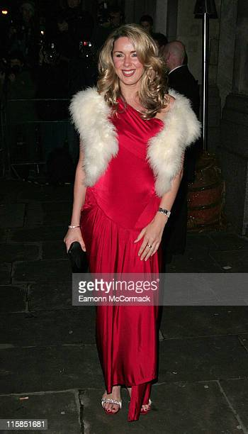 Claire Sweeney during La Dolce Vita Party Arrivals December 11 2006 at Old Billingsgate in London Great Britain