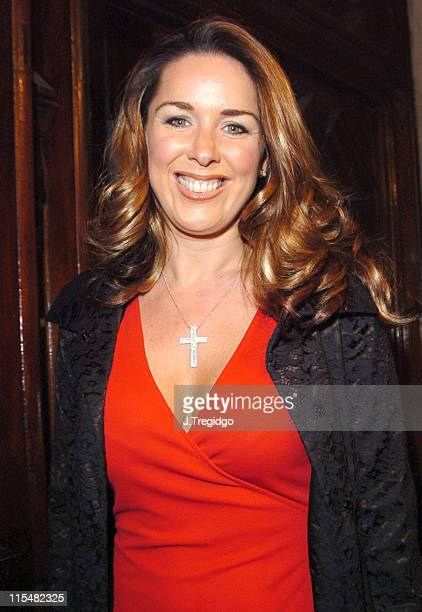Claire Sweeney during Vagina Monologues Press Night Performance at Wyndham Theatre Charing Cross Road in London Great Britain
