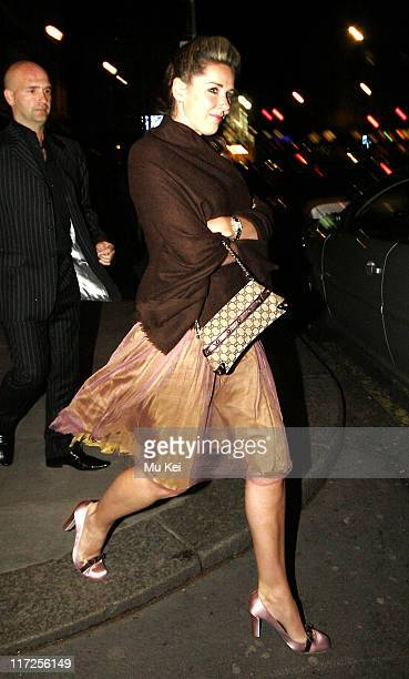 Claire Sweeney leaving Spearmint Rhino during Claire Sweeney Sighting at Spearmint Rhino in London April 04 2006 in London Great Britain