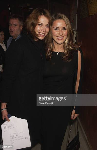 Claire Sweeney with Star Newspaper Columnist Mel at a Party to celebrateMichael Greco joining the cast of the musical Chicago as Billy Flynn at...