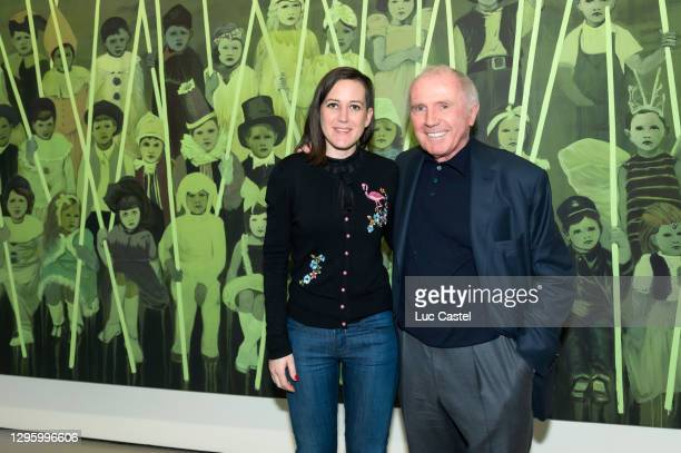 """Claire tabouret and Francois Pinault attend the Private viewing of the Exhibition """"the Illusution of Light"""" on April 12, 2014 in Venice, Italy."""