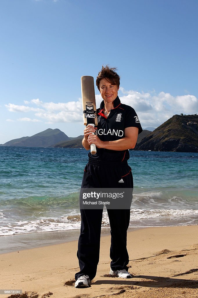 Claire Taylor of the England womens team poses on May 5, 2010 in St Kitts, Saint Kitts And Nevis.