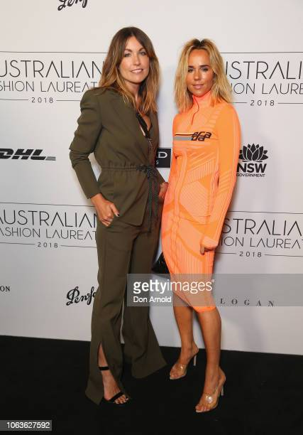 Claire Tregoning and Pip Edwards pose at the 2018 Australian Fashion Laureate Awards on November 20 2018 in Sydney Australia