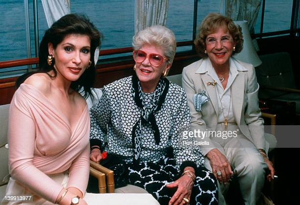 Claire Trevor Lynn Marshall and Arlene Francis at the 40th Annual Birthday Party for Barry Landau Water Club New York City