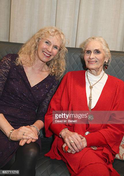 Claire Trigger and Daphne Selfe attend a private view of photographer Alistair Guy's new exhibition 'Strong Women' at Grace Belgravia on January 25...