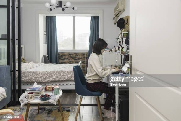 Claire Tu an employee at Reprise Digital works from her home in Shanghai China on Monday March 9 2020 The need for greater trust between employees...