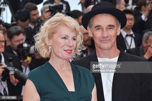 Claire van Kampen and Mark Rylance attend The BFG premiere during the 69th annual Cannes Film Festival at the Palais des Festivals on May 14 2016 in...