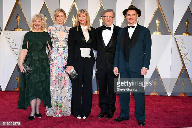 Claire van Kampen Juliet Rylance actress Kate Capshaw director Steven Spielberg and actor Mark Rylance attend the 88th Annual Academy Awards at...