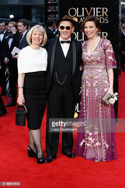 Claire van Kampen Mark Rylance and Melody Grove arrive The Olivier Awards with Mastercard at The Royal Opera House on April 3 2016 in London England