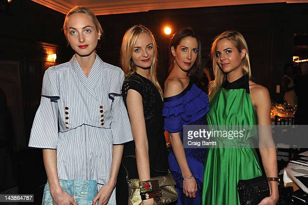 Claire Virginie Prisca and Jena Courtin Clarins attends a dinner in honour of Frieze Project Artists hosted by Frieze Art Inc and Mulberry at Crown...