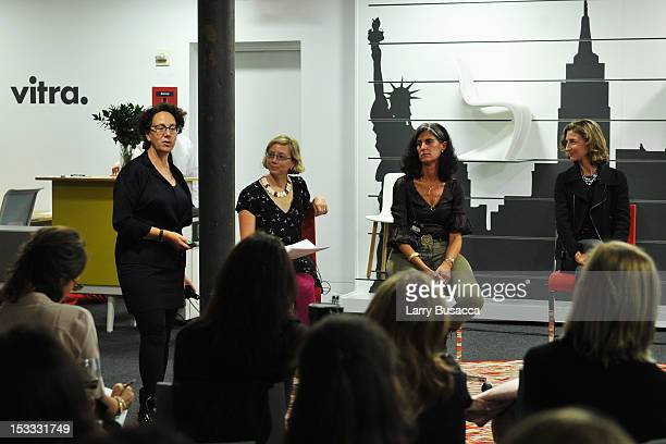 Claire Weisz Alexandra Lange Galia Solomonoff and Marion Weiss speak at the New York Magazine And Dwell Women In Design Panel Discussion on October 3...