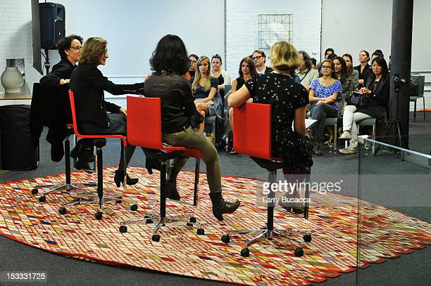 Claire Weisz Marion Weiss Galia Solomonoff and Alexandra Lange speak at the New York Magazine And Dwell Women In Design Panel Discussion on October 3...