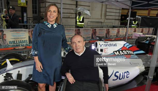 Claire Williams and Sir Frank Williams attend the World Premiere of 'Williams' hosted by Martini at The Curzon Mayfair on July 11 2017 in London...