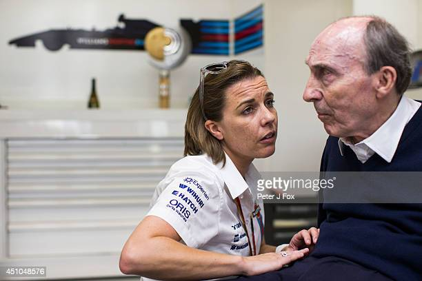 Claire Williams and Sir Frank Williams of Williams and Great Britain after winning the Austrian F1 Grand Prix at Red Bull Ring on June 22 2014 in...