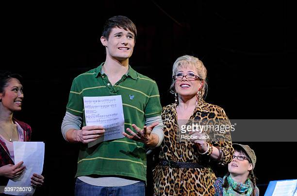 ClaireMarie Hall Mark Evans Holly Taylor and Letitia Dean perform in the production High School Musical at the Apollo Theatre Hammersmith in London