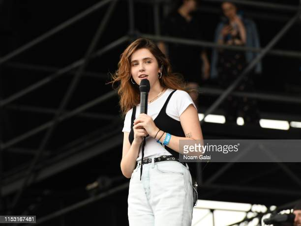 Clairo performs at the 2019 Governors Ball Festival at Randall's Island on June 01 2019 in New York City