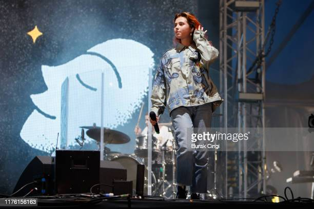 Clairo performs live on the BBC Radio One stage during day one of Reading Festival 2019 at Richfield Avenue on August 23 2019 in Reading England