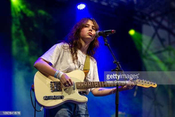 Clairo performs on stage during Brisbane Laneway Festival on February 2 2019 in Brisbane Australia