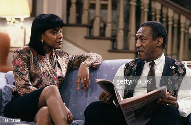 """Clair's Liberation"""" Episode 12 -- Aired -- Pictured: Phylicia Rashad as Clair Hanks Huxtable, Bill Cosby as Dr. Heathcliff 'Cliff' Huxtable"""