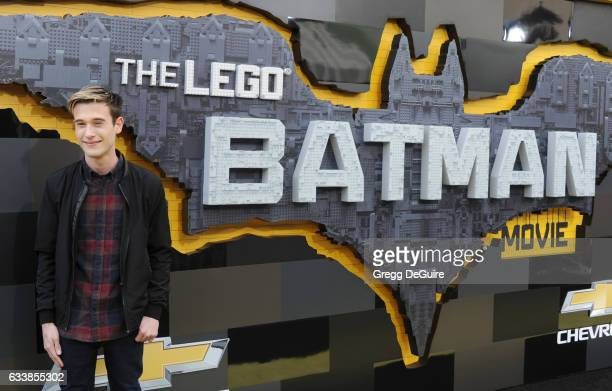 Clairvoyant Tyler Henry arrives at the premiere of Warner Bros Pictures' 'The LEGO Batman Movie' at Regency Village Theatre on February 4 2017 in...