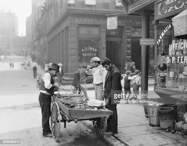 Clam Seller Mulberry Bend Little Italy New York City New York USA Detroit Publishing Company 1900