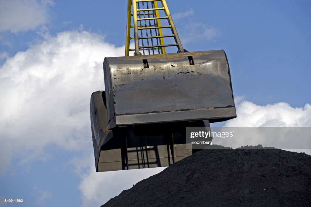 A clam shell crane bucket unloads the first shipment of anthracite coal from U.S. supplier XCoal Energy & Resources LLC, for state energy firm Centrenergo PJSC, onto the dockside at Yuzhny Port, near Odessa, Ukraine, on Wednesday, Sept. 13, 2017. A Pennsylvania company will send 700,000 tons of coal to Ukraine in a deal the administration of PresidentDonald Trumpheralded as an important tool to undercut the power Russia has over its European neighbors. Photographer: Vincent Mundy/Bloomberg via Getty Images