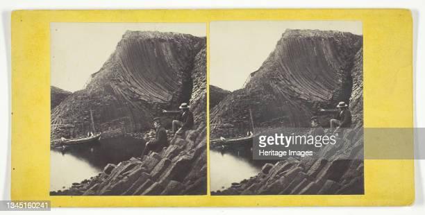 Clamshell Cave, Staffa, Mid 19th century. Albumen print, stereocard. Artist George Washington Wilson.