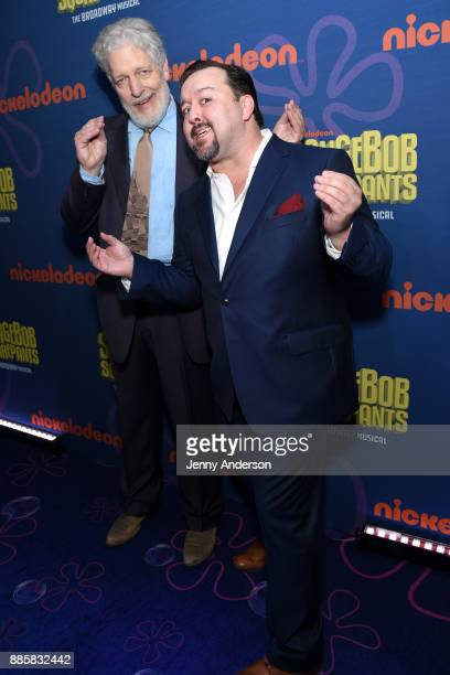 Clancy Brown and Brian Ray Norris attend opening night of Nickelodeon's SpongeBob SquarePants The Broadway Musical after party at Ziegfeld Ballroom...