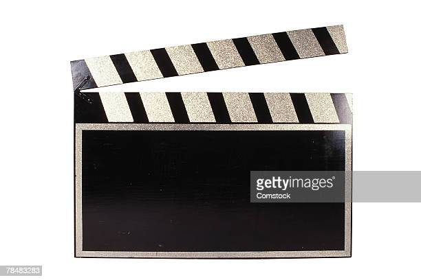 clap board used in cinematography - moving image stock photos and pictures