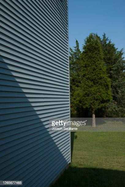 clapboard house facade with tree - joseph squillante stock pictures, royalty-free photos & images