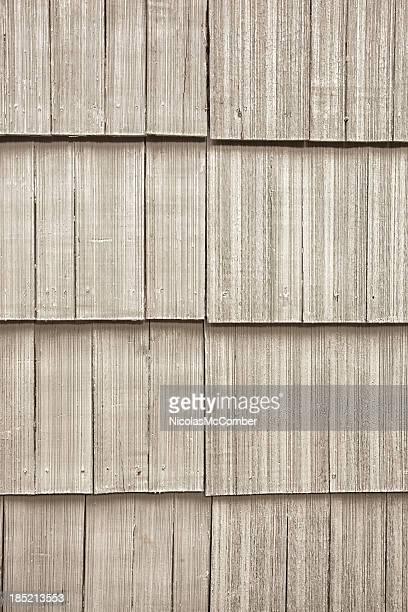 Clapboard wood paneling