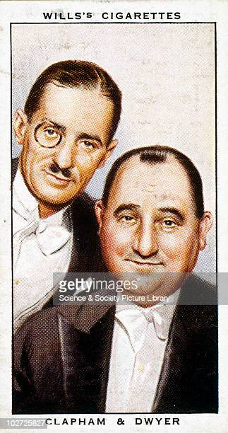'Clapham and Dwyer' cigarette card Wills' cigarette card from 'Radio Celebrities' 1934 Wills' cigarette card from 'Radio Celebrities' 1934