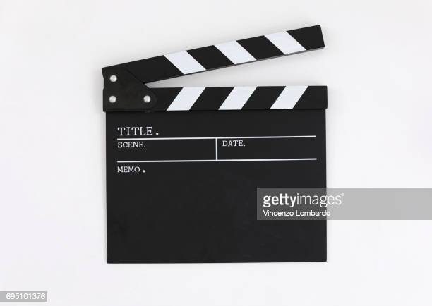 Clapper board, close up, front view